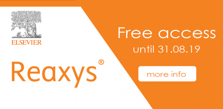 Reaxys is available for a trial period between  2.12.18 - 31.8.19 more info